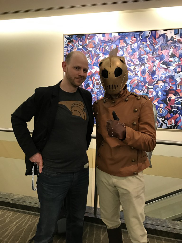 Dan with a Rocketeer cosplayer